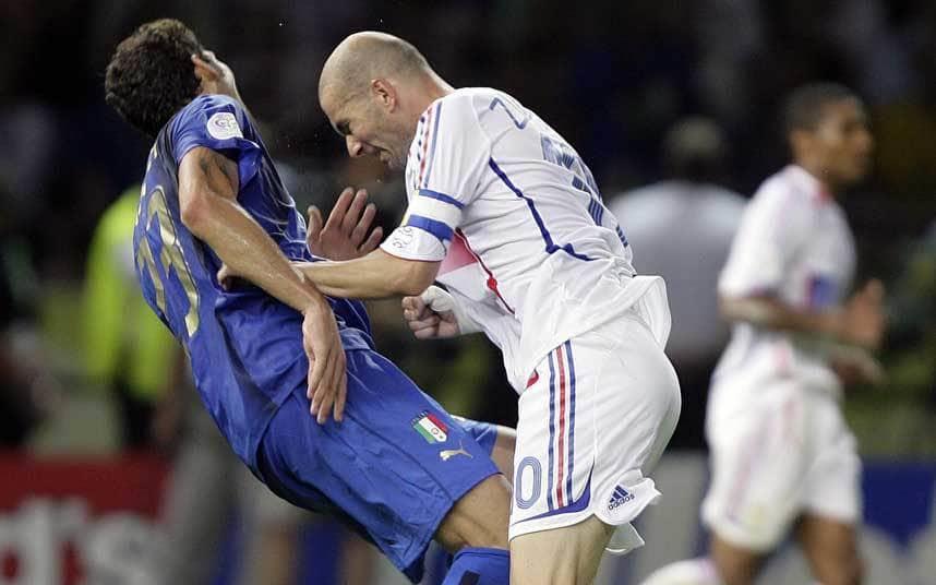 Kopstoot van Zidane versus Materazzi.